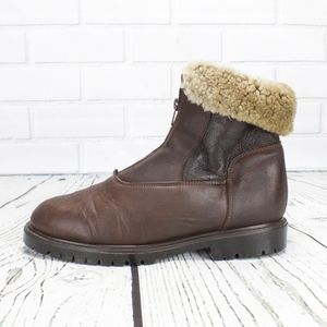 Brown Leather Shearling Lined Canada Boots Sz 8.5